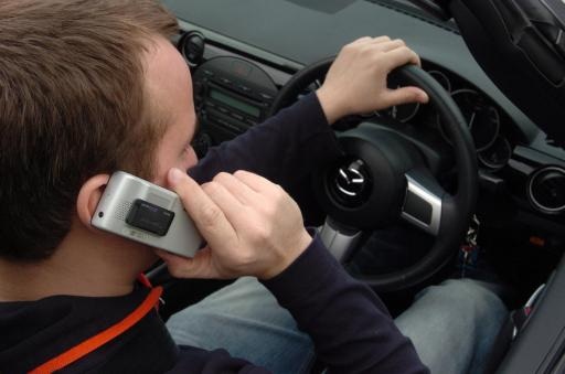 Drivers using mobile phones