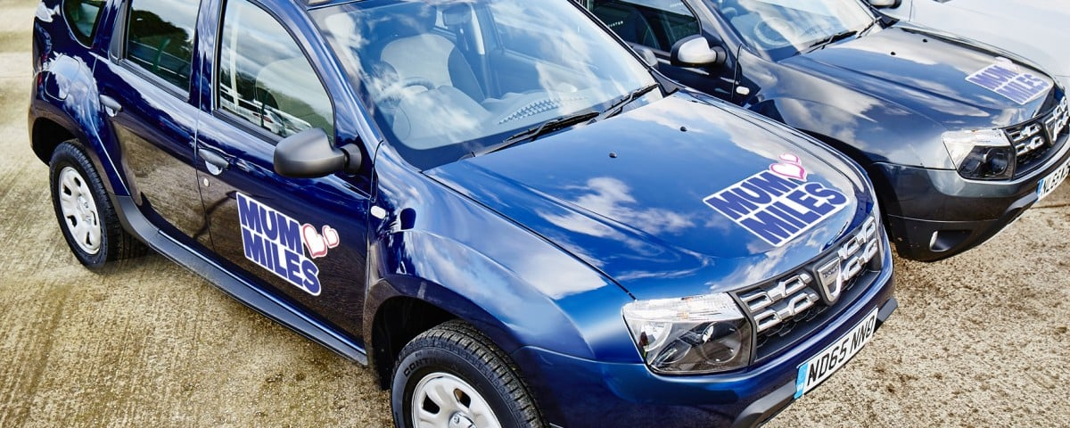2016 Dacia Duster 'Mum Miles' service (Mother's Day)
