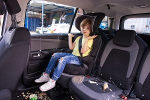Top tips on how to clean some of the most common snacks given to kids in the car