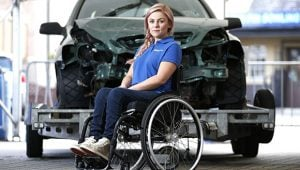 Car crash survivor, Laura Torrance, shared her experiences to highlight road safety at Streets Ahead Edinburgh Young Drivers.