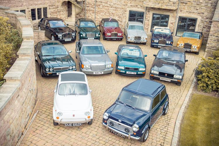 A collection of 12 cars formerly owned by royalty, politicians and celebrities is set to go under the hammer.