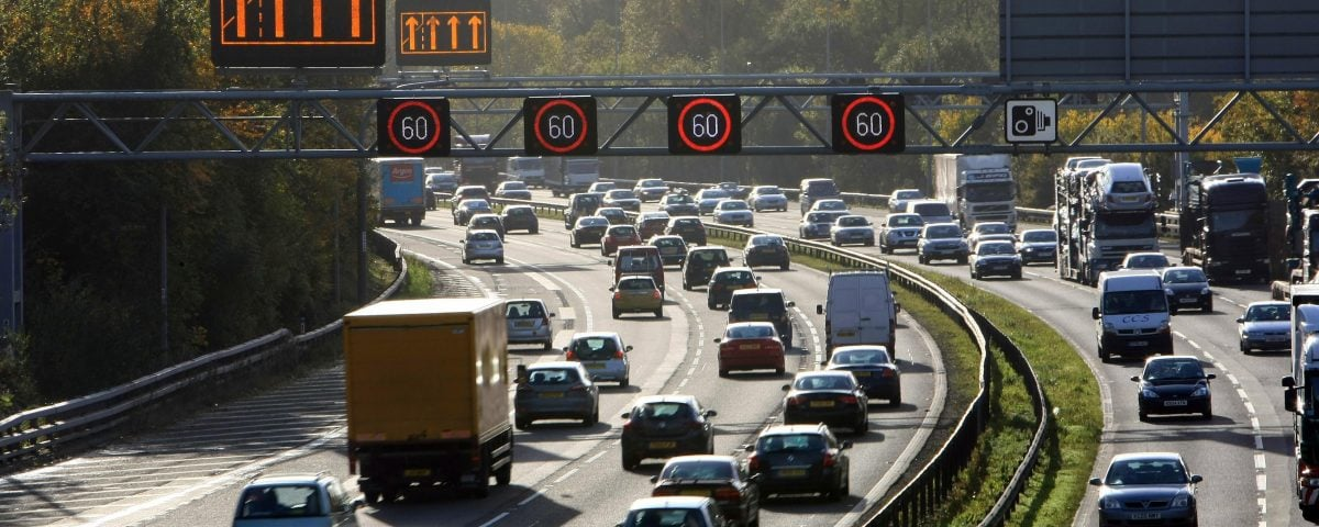 Research has found that the average speed on the UK's five slowest motorways is far below the 70mph limit.