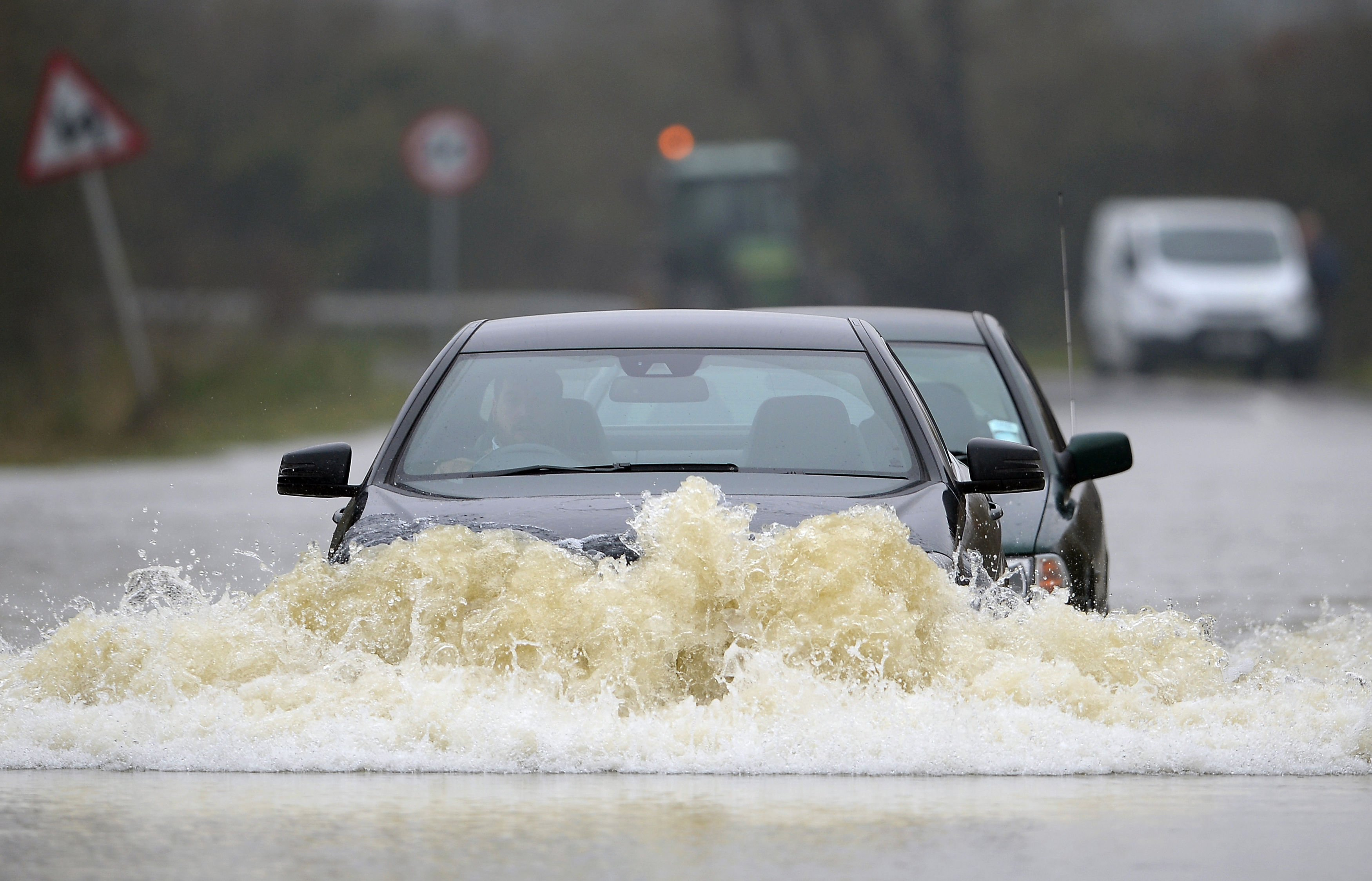 Driving through flood water can be life-threatening – just 30cm of flowing water is enough to float your car