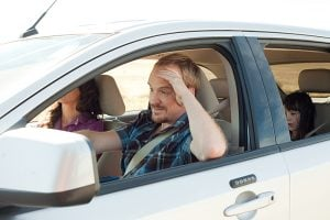 Four of the top five most stressful journeys involve driving with children