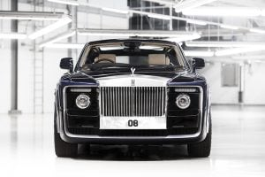 The personalised Sweptail Rolls Royce reportedly cost £10 million.