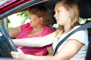 Two in five parents are terrified at the thought of getting into a car with their child driving