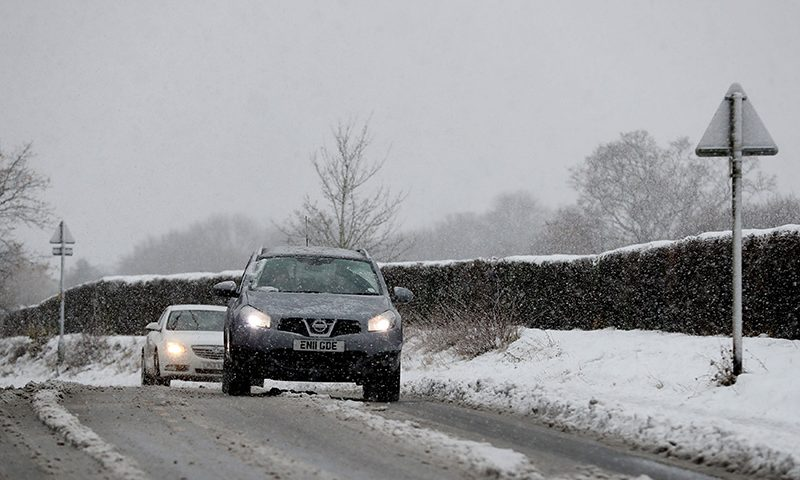 Experts say to increase stopping distances by 10 times in wintry conditions