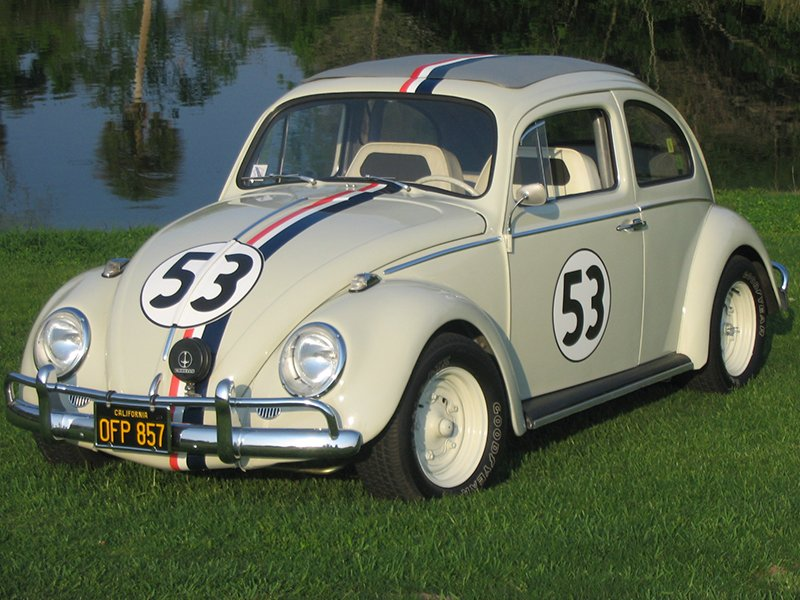 Boxer Herbie Hide with 'Herbie' the Volkswagen