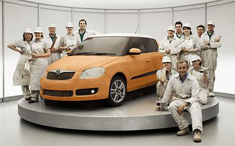 Skoda's famous 60-second commercial is reported to have cost £500,000 to produce