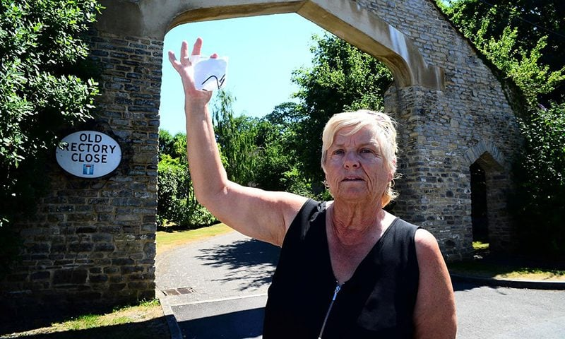 Janet Smith found nails on the cul-de-sac in Highbridge, Somerset