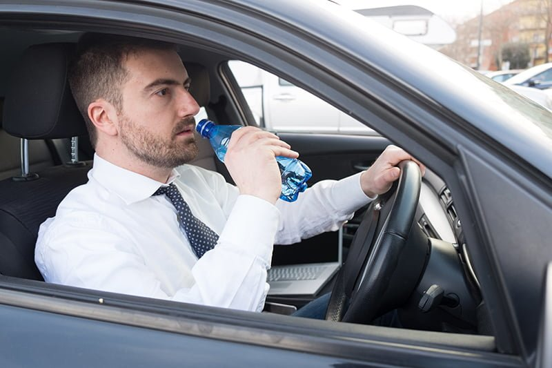 Dehydrated drivers make just as many mistakes as those who drink and drive