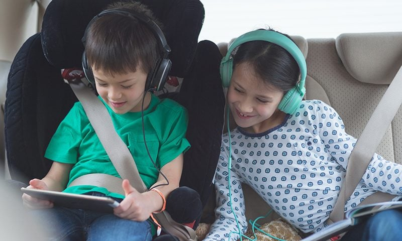 Driving with kids can be stressful, check out our top tips to creating a stress-free journey