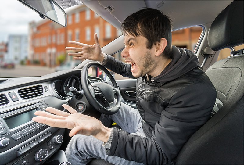 Drivers with road rage resulting in aggressive in-car behaviour can be hit with a fine and even a ban