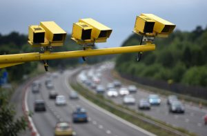 Average speed cameras use Automatic Number Plate Reading (ANPR) technology to record a date and time stamp as you pass between two cameras.