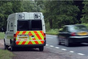 Mobile speed cameras typically used by police from inside cars and vans.