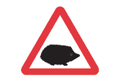 The introduction of hedgehog road signs is believed to make the roads safer for all.