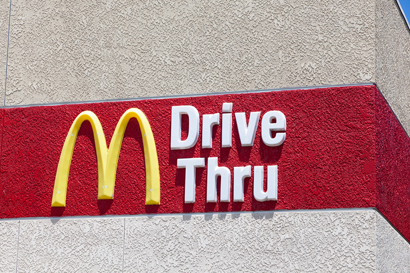 A driver was traced from a McDonald's wrapper in his car