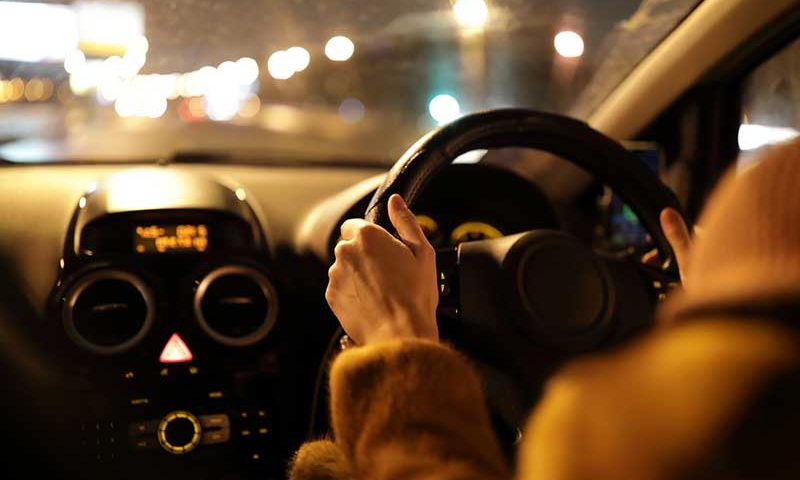 A third of accidents involving young drivers happen after dark
