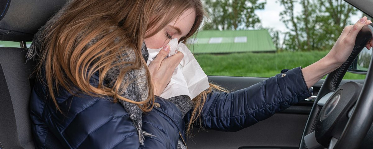Driver fined £100 for sneezing