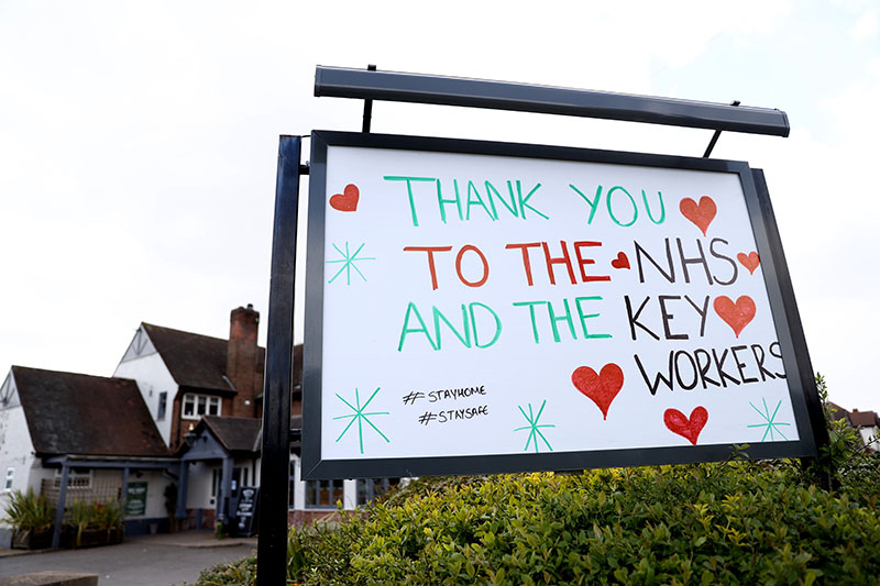 NHS thank you sign