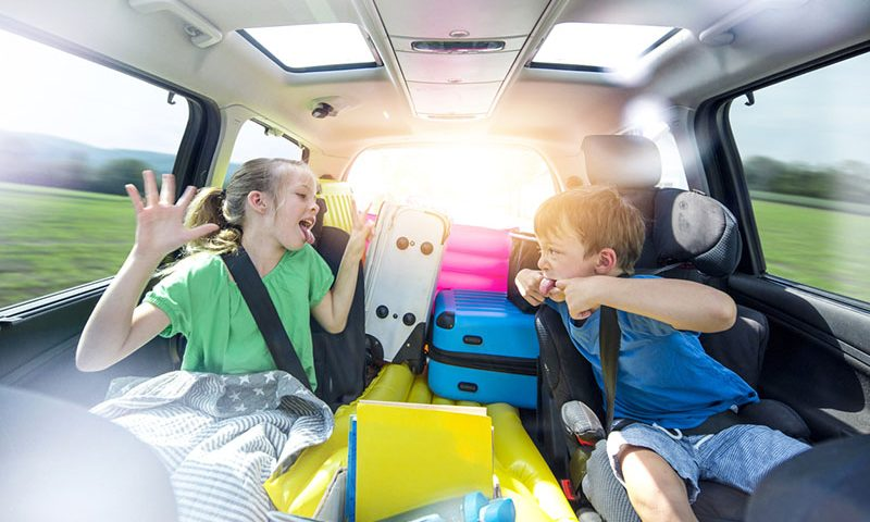 Kids make car journeys stressful