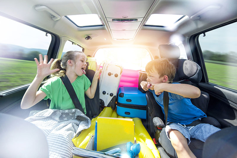 Kids make car journeys stressful