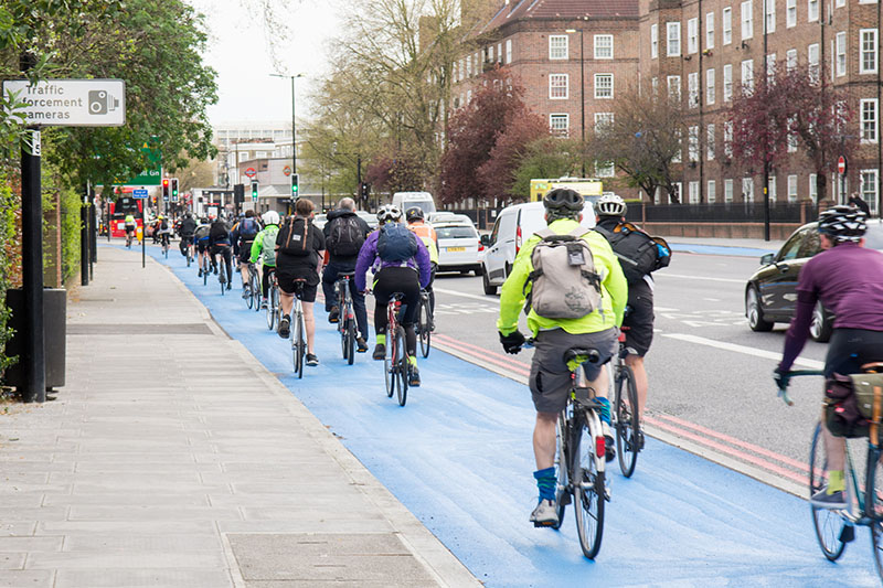 Fines for parking in cycle lanes