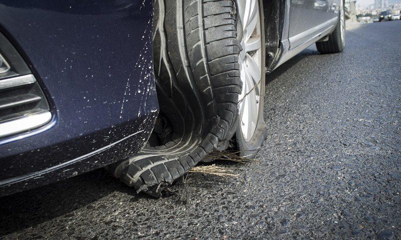 Blown tyre