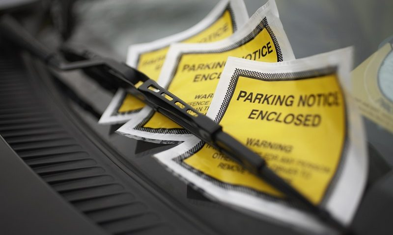 Parking fine being issued
