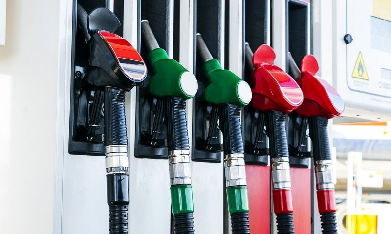 Fuel pumps at a service station