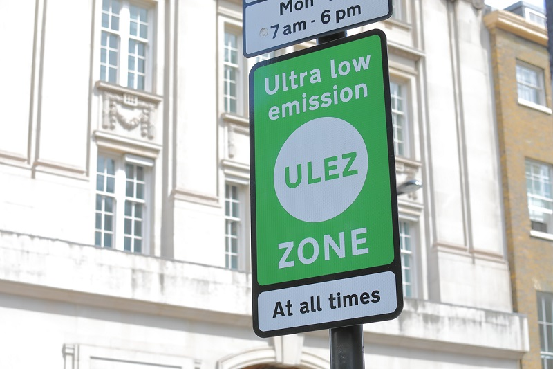 Ultra-Low Emission Zone sign in London